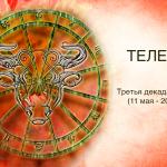 Третья декада  Тельца (11 мая — 20 мая)
